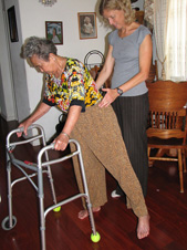 LEAPS study participant in a home exercise program.