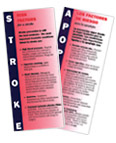 Stroke Risk Factors and Symptoms brochure cover image